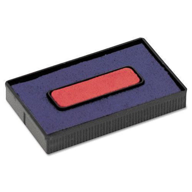 COSCO Felt Replacement Ink Pad For 2000plus Economy Message Dater, Red-blue-COSCO-Omni Supply