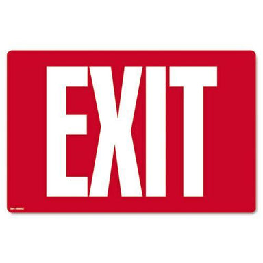 COSCO Glow-In-The-Dark Safety Sign, Exit, 12 X 8, Red-COSCO-Omni Supply
