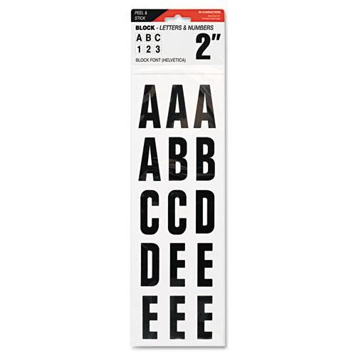 "COSCO Letters, Numbers & Symbols, Adhesive, 2"", Black-COSCO-Omni Supply"