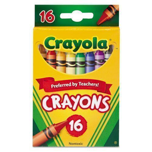 Crayola Classic Color Crayons, Peggable Retail Pack, 16 Colors-Crayola®-Omni Supply