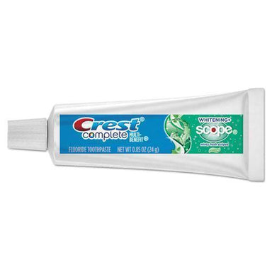 Crest Complete Whitening Toothpaste + Scope, Minty Fresh, 0.85 Oz Tube, 72-carton-Crest®-Omni Supply