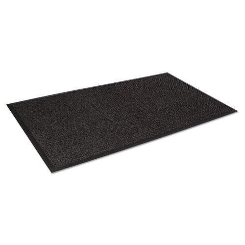 Crown Super-Soaker Wiper Mat W-gripper Bottom, Polypropylene, 36 X 60, Charcoal-Crown-Omni Supply