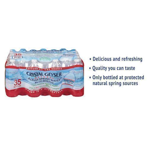CrystlGey Alpine Spring Water, 16.9 Oz Bottle, 35-case-Crystal Geyser®-Omni Supply
