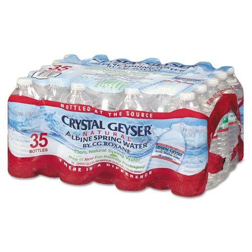 CrystlGey Natural Alpine Spring Water, 16.9 Oz Bottle, 35-carton-Crystal Geyser®-Omni Supply
