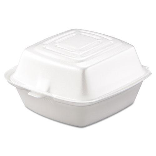 Dart Carryout Food Container, Foam, 1-Comp, 5 1-2 X 5 3-8 X 2 7-8, White, 500-carton-Dart®-Omni Supply