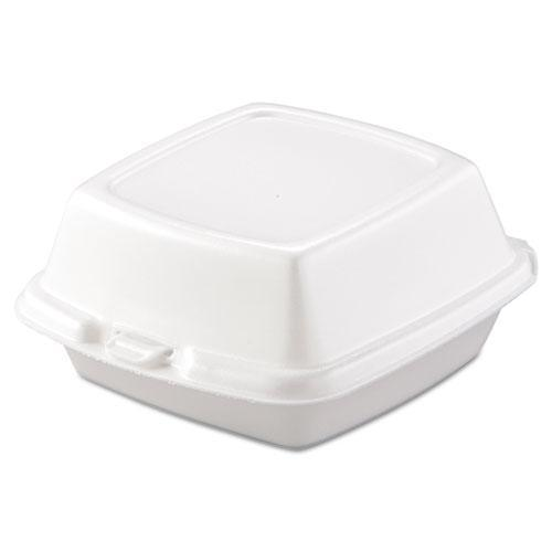 Dart Carryout Food Containers, Foam, 1-Comp, 5 7-8 X 6 X 3, White, 500-carton-Dart®-Omni Supply