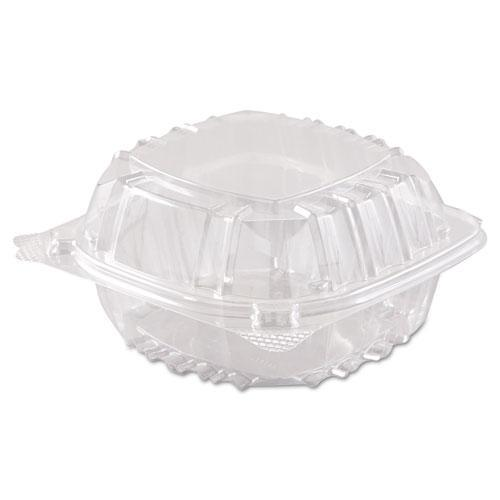 Dart Clearseal Hinged-Lid Plastic Containers, 6 X 5 4-5 X 3, Clear, 500-carton-Dart®-Omni Supply