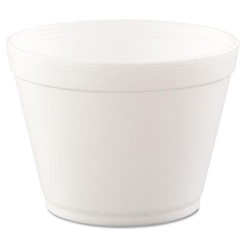 Dart Foam Containers,16oz, White, 25-bag, 20 Bags-carton-Dart®-Omni Supply