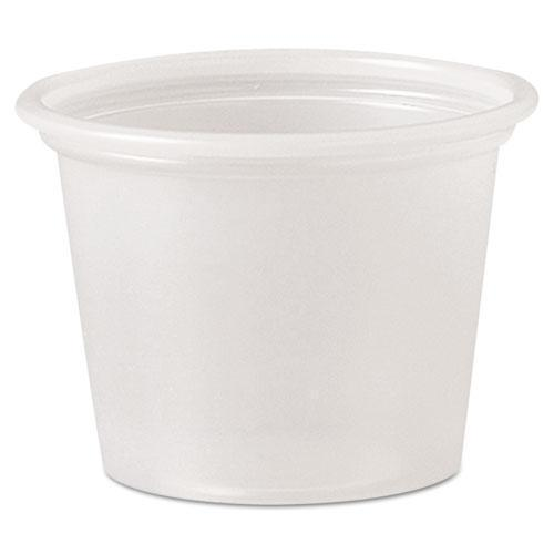 Dart Polystyrene Portion Cups, 1 Oz, Translucent, 2500-carton-Dart®-Omni Supply