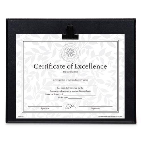 DAX PLAQUE WITH METAL CLIP, WOOD, 8 1-2 X 11 INSERT, BLACK-DAX®-Omni Supply
