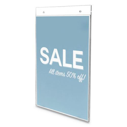 "deflect-o CLASSIC IMAGE WALL SIGN HOLDER, 8 1-2"" X 11"", CLEAR FRAME, 12-PACK-deflecto®-Omni Supply"