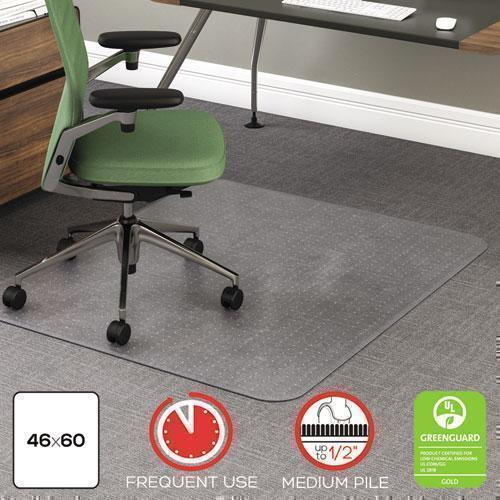 deflect-o ROLLAMAT FREQUENT USE CHAIR MAT, MED PILE CARPET, FLAT, 46 X 60, RECTANGLE, CR-deflecto®-Omni Supply