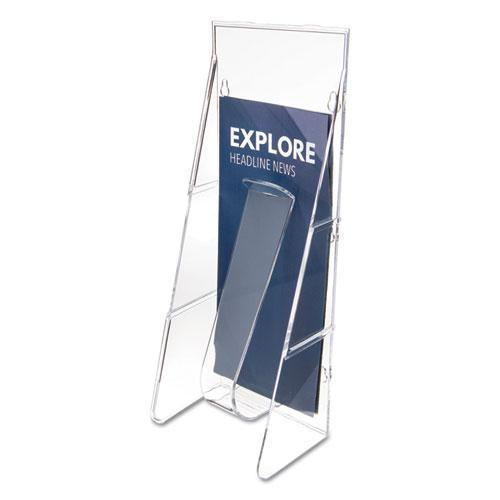 deflect-o STAND-TALL WALL-MOUNT LITERATURE RACK, LEAFLET, 4 9-16 X 2 3-4 X 11 3-4, CLEAR-deflecto®-Omni Supply