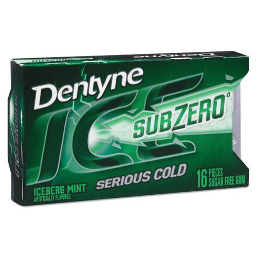 DentyneIce Sugarless Gum, Iceberg Mint, 16 Pieces-pack, 9 Packs-box-Dentyne Ice®-Omni Supply