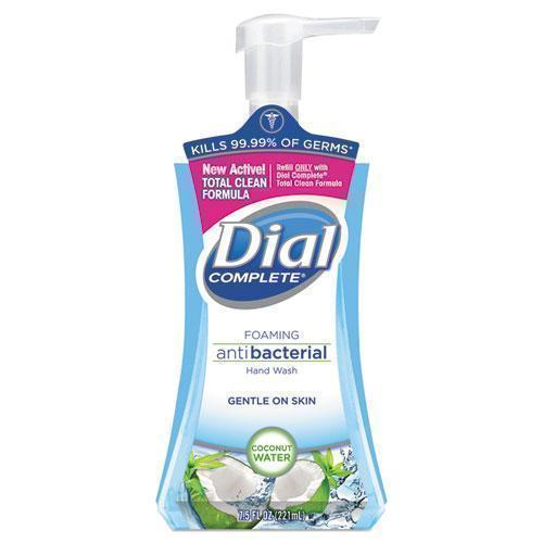 Dial Antibacterial Foaming Hand Wash, Coconut Waters, 7.5 Oz Pump Bottle, 8-carton-Dial®-Omni Supply
