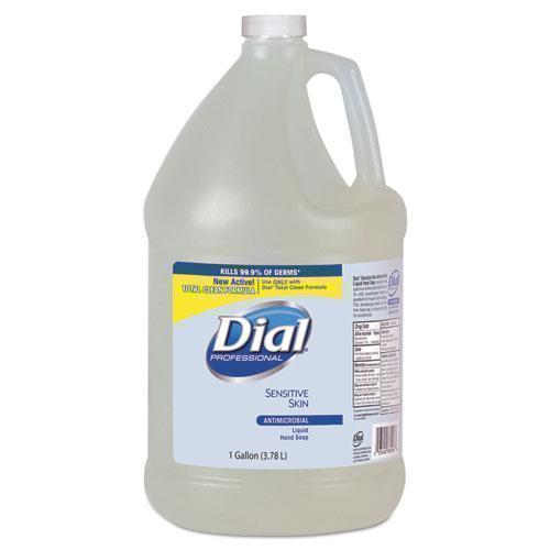 Dial Antimicrobial Soap For Sensitive Skin, Floral, 1gal Bottle, 4-carton-Dial® Professional-Omni Supply