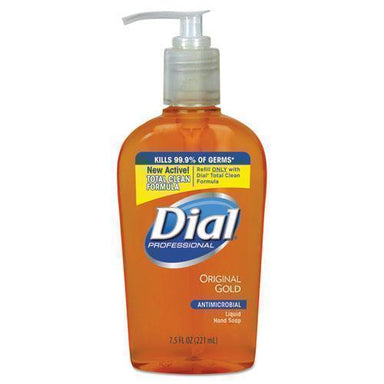 Dial GOLD ANTIMICROBIAL HAND SOAP, FLORAL FRAGRANCE, 7.5 OZ PUMP BOTTLE, 12-CARTON-Dial® Professional-Omni Supply