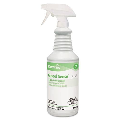 Diversey Good Sense Rtu Liquid Odor Counteractant, Apple Scent, 32 Oz Spray Bottle-Diversey™-Omni Supply