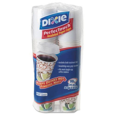 Dixie Combo Bag, Paper Hot Cups, 10oz, 50-pack, 6 Packs-carton-Dixie®-Omni Supply