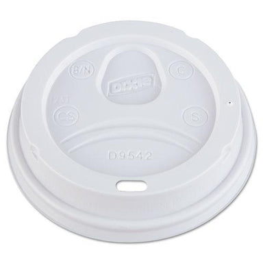 Dixie DOME DRINK-THRU LIDS, FITS 10, 12, 16OZ PAPER HOT CUPS, WHITE, 1000-CARTON-Dixie®-Omni Supply
