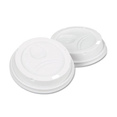 Dixie Dome Drink-Thru Lids,10-16 Oz Perfectouch;12-20 Oz Wisesize Cup, White, 50-pack-Dixie®-Omni Supply