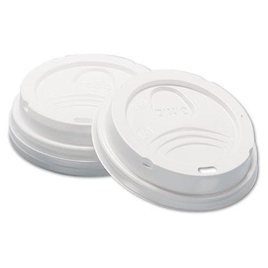 Dixie Dome Hot Drink Lids, 8oz Cups, White, 100-sleeve, 10 Sleeves-carton-Dixie®-Omni Supply