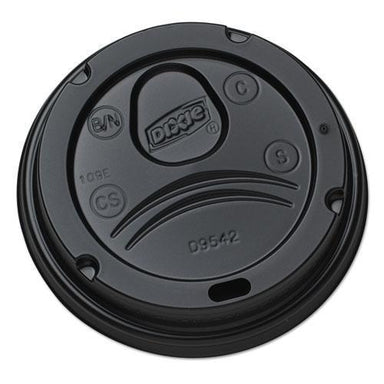 Dixie Drink-Thru Lids For 10-20 Oz Cups, Plastic, Black-Dixie®-Omni Supply