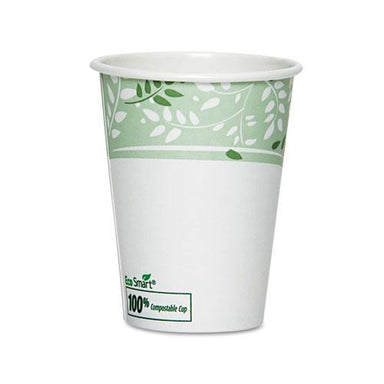 Dixie Ecosmart Hot Cups, Paper W-pla Lining, Viridian, 12oz, 50-pack-Dixie®-Omni Supply
