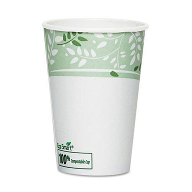 Dixie Ecosmart Hot Cups, Paper W-pla Lining, Viridian, 16oz, 50-pack-Dixie®-Omni Supply