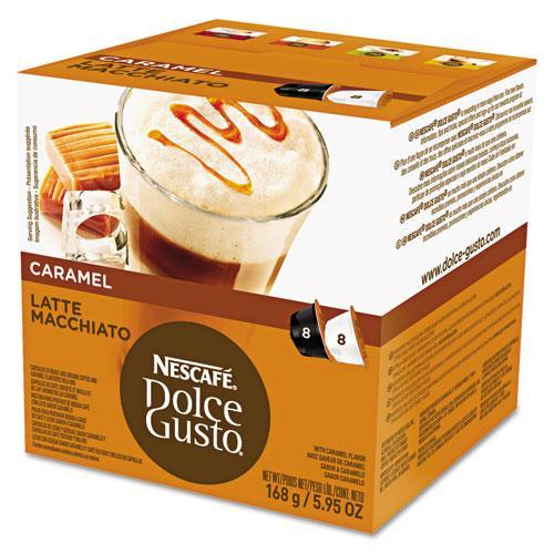 DolceGusto Coffee Capsules, Caramel Latte Macchiato, 1.93oz, 16-box-Dolce Gusto-Omni Supply