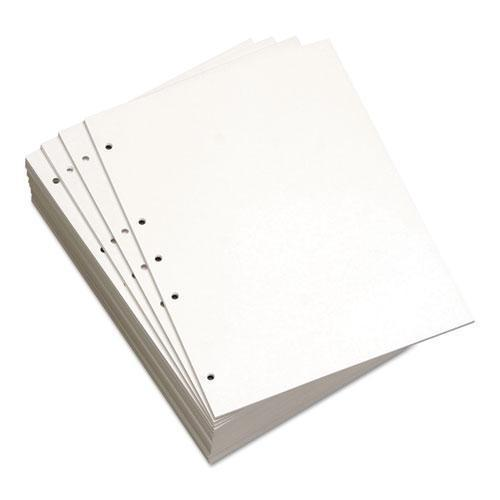Domtar Custom Cut-Sheet Copy Paper, 20 Lb, 8 1-2 X 11, White, 5-Hole Left, 1 Rm-Domtar-Omni Supply