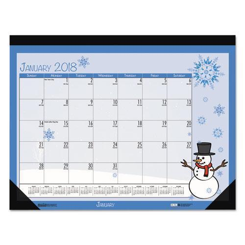 Doolittle EARTHSCAPES SEASONAL DESK PAD CALENDAR, 22 X 17, ILLUSTRATED HOLIDAY, 2019-House of Doolittle™-Omni Supply