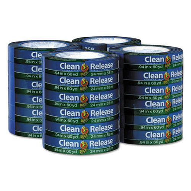 "Duck Clean Release Painter's Tape, 0.94"" X 60 Yds, 3"" Core, Blue, 24 Per Pack-Duck®-Omni Supply"