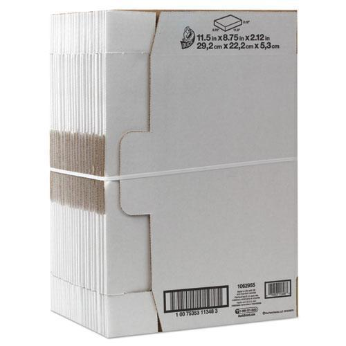 Duck Self-Locking Shipping Boxes, 11 1-2l X 8 3-4w X 2 1-8h, White, 25-pack-Duck®-Omni Supply