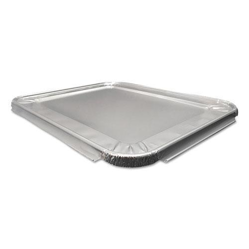 DurablePak ALUMINUM STEAM TABLE LIDS FOR HEAVY-DUTY HALF SIZE PAN, 100 -CARTON-Durable Packaging-Omni Supply