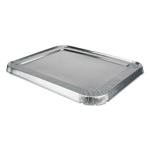 DurablePak ALUMINUM STEAM TABLE LIDS FOR ROLLED EDGE HALF SIZE PAN, 100 -CARTON-Durable Packaging-Omni Supply