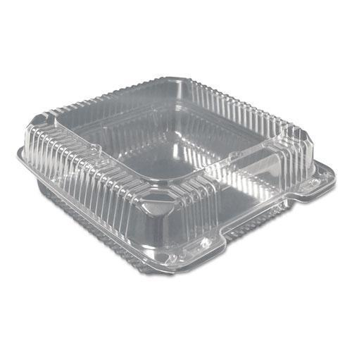 DurablePak PLASTIC CLEAR HINGED CONTAINERS, 9 X 9, CLEAR, 200-CARTON-Durable Packaging-Omni Supply
