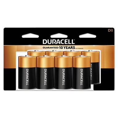 Duracell COPPERTOP ALKALINE BATTERIES, D, 8-PACK-Duracell®-Omni Supply
