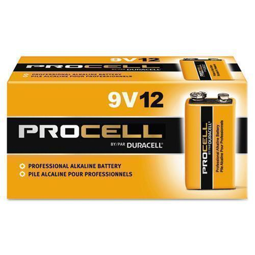 Duracell Procell Alkaline Batteries, 9v, 12-box-Duracell®-Omni Supply