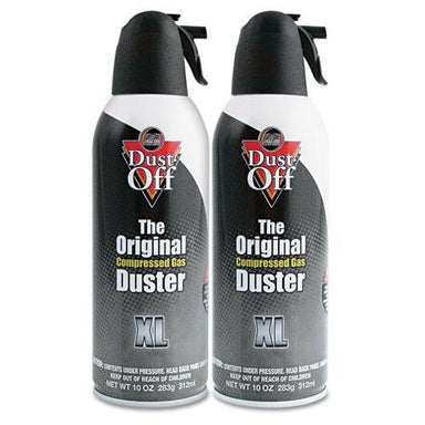 Dust-Off Disposable Compressed Air Duster, 10 Oz Cans, 2-pack-Dust-Off®-Omni Supply