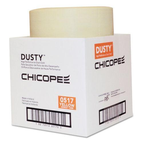 DUSTY Disposable Dust Cloths, 7 7-8 X 11, Yellow, Rayon-poly, 350 Per Roll, 1 Roll-ct-DUSTY™-Omni Supply