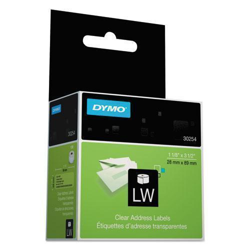 DYMO Labelwriter Address Labels, 1 1-8 X 3 1-2, Clear, 130 Labels-roll-DYMO®-Omni Supply