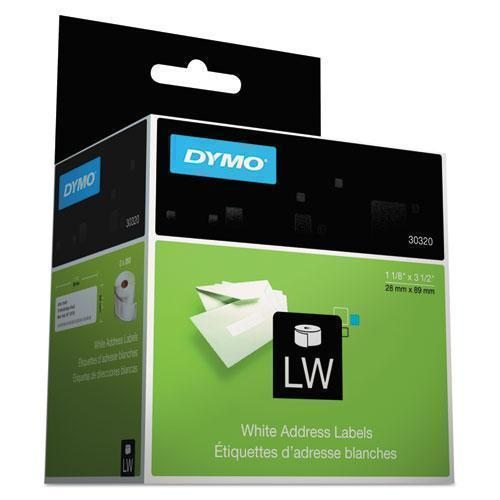 DYMO Labelwriter Address Labels, 1 1-8 X 3 1-2, White, 260 Labels-roll, 2 Rolls-pack-DYMO®-Omni Supply