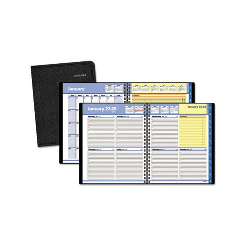 ATAGLANCE QUICKNOTES WEEKLY-MONTHLY APPOINTMENT BOOK, 8 X 9 7-8, BLACK, 2019