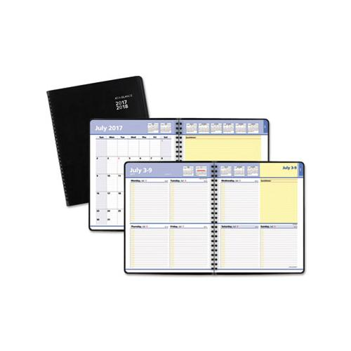 ATAGLANCE QUICKNOTES WEEKLY-MONTHLY PLANNER, 8 X 9 7-8, BLACK, 2019-2020