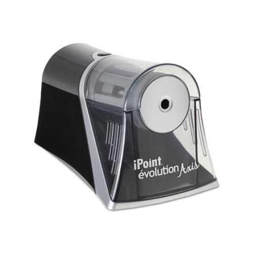 Westcott IPOINT EVOLUTION AXIS PENCIL SHARPENER, BLACK-SILVER, 4 1-4 W X 7D X 4 3-4H
