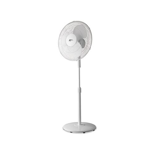 "Alera 16"" 3-Speed Oscillating Pedestal Stand Fan, Metal, Plastic, White"