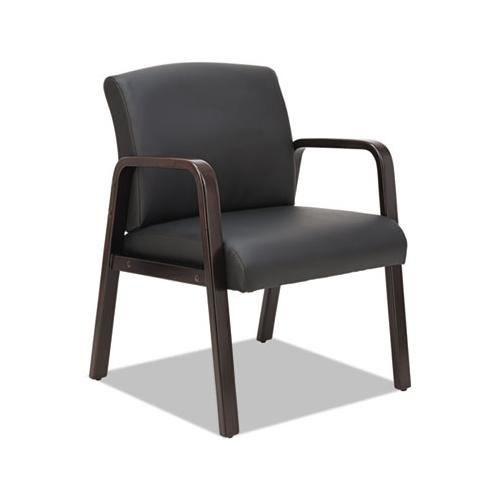 Alera Alera Reception Lounge Series Guest Chair, Espresso-black Leather
