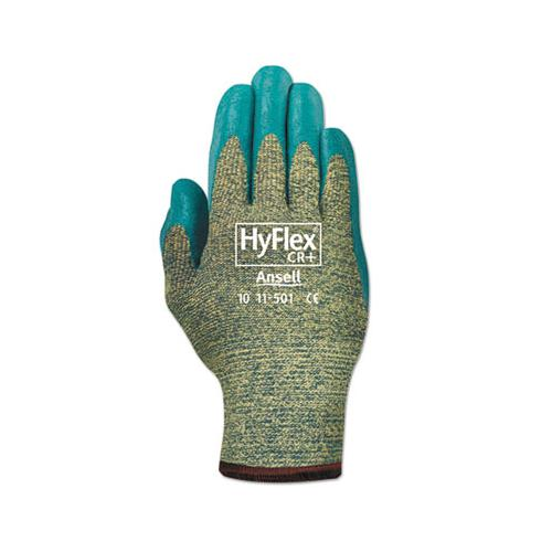 AnsellPro Hyflex 501 Medium-Duty Gloves, Size 8, Kevlar-nitrile, Blue-green, 12 Pairs