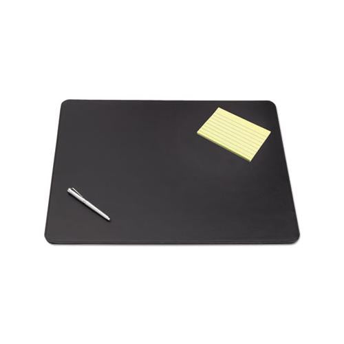 Artistic Sagamore Desk Pad W-decorative Stitching, 38 X 24, Black